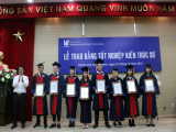 Sao Mai Group offers scholarships to students of the University of Architecture of Ho Chi Minh City in 2018